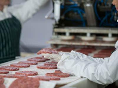 Línea de procesamiento de empanada de carne del hamburgueso